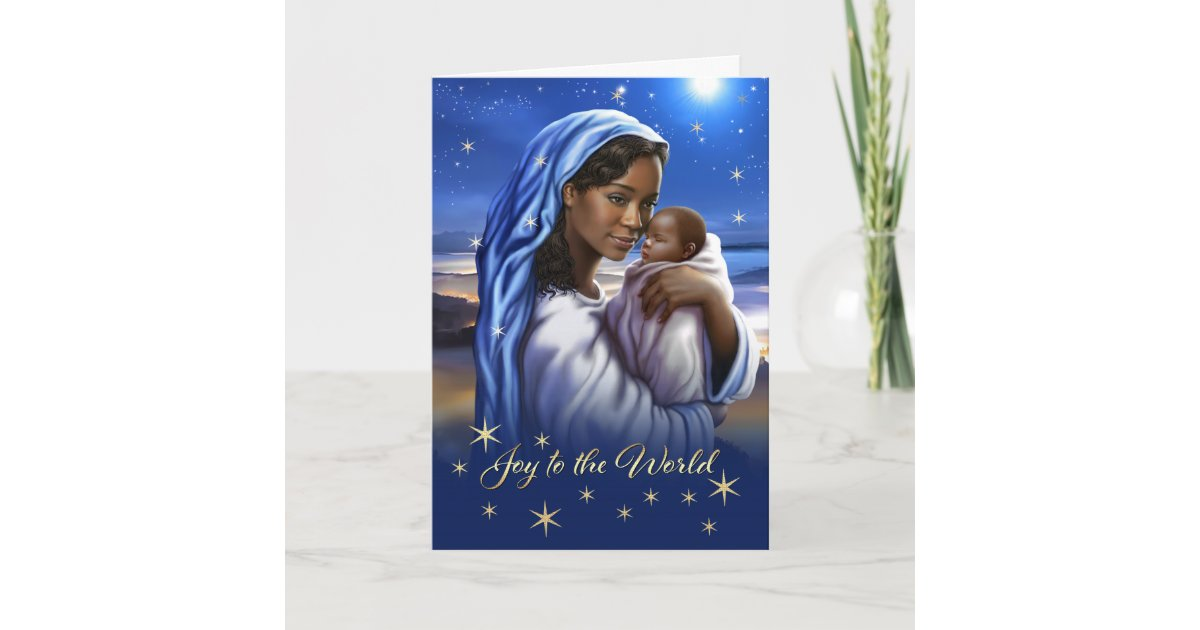 African American Madonna and Child Christmas Cards | Zazzle.com