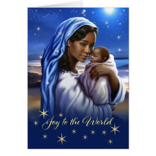 Native american christmas cards greeting photo cards zazzle african american madonna and child christmas cards bookmarktalkfo Image collections