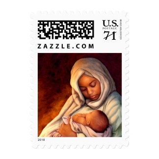 African American Madonna and Child Christmas Stamp