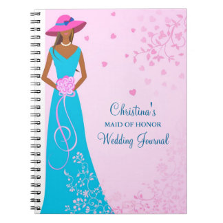 African American Maid of Honor Journal Notebook