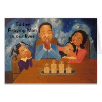 African American Man Father Husband Greeting Card
