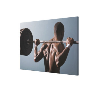 African American man working out the gym 2 Gallery Wrapped Canvas