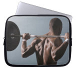 African American man working out the gym 2 Laptop Sleeves