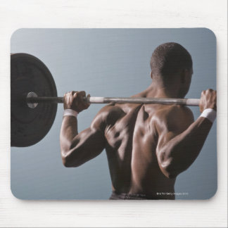 African American man working out the gym 2 Mousepads