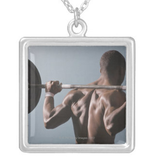 African American man working out the gym 2 Pendant