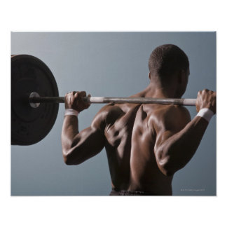 African American man working out the gym 2 Poster