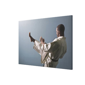 African American man working out the gym Canvas Print