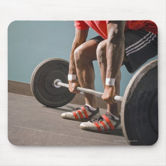 African American man working out the the gym Mouse Pad