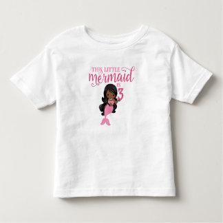 African-American Mermaid 3rd Birthday Tee Shirt