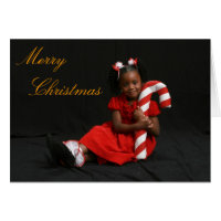 African American Merry Christmas Card