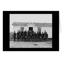 African American Military Band 1865 Card