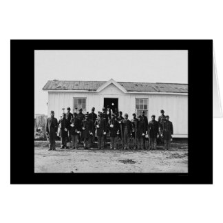 African American Military Band 1865 Greeting Card