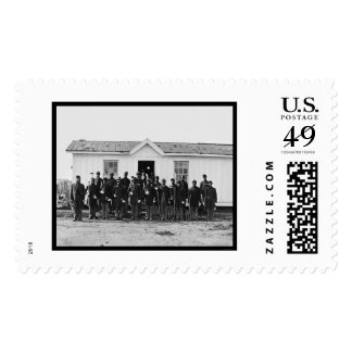 African American Military Band 1865 Postage Stamp