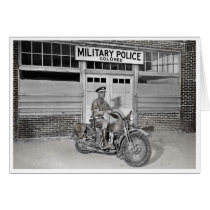 African American Military Police Card