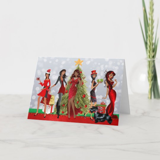 african american modern christmas card - Modern Christmas Cards