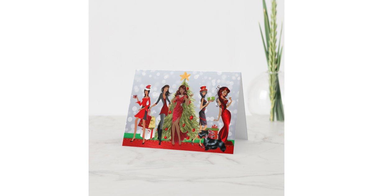 African American Modern Christmas Card   Zazzle.com