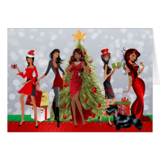 African American Modern Christmas Card
