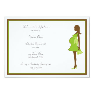 African American Mom Baby Shower Invitation