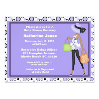 African American Mom to Be Baby Shower Invitation