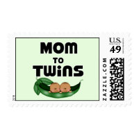 African American Mom to Twins Postage
