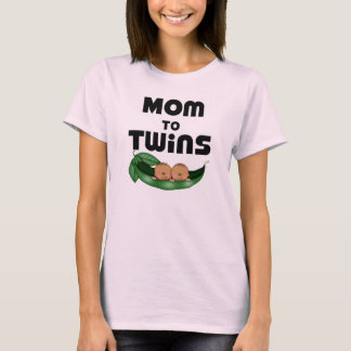 African American Mom to Twins T-Shirt