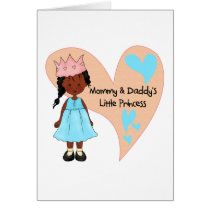 African American Mommy and Daddy's Princess Card