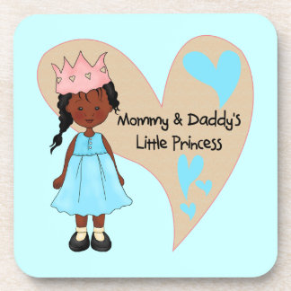 African American Mommy and Daddy's Princess Coasters