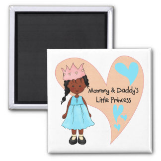 African American Mommy and Daddy's Princess Magnet