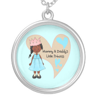 African American Mommy and Daddy's Princess Necklace
