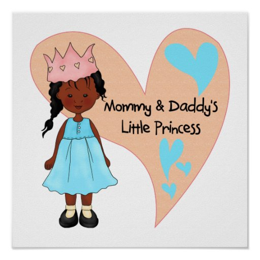 African American Mommy and Daddy's Princess Print