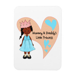 African American Mommy and Daddy's Princess Vinyl Magnet