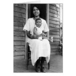 African American Mother and Child Card