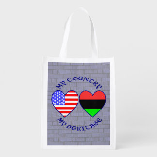 African American My COuntry My Heritage Grocery Bag
