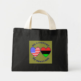 African American My COuntry My Heritage Mini Tote Bag