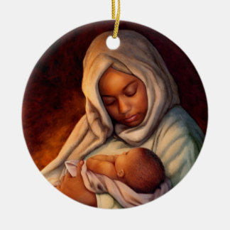 African American Nativity Art Christmas Ornaments