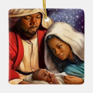 African American Nativity Art Christmas Ornaments