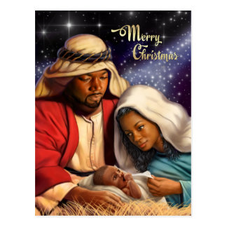 African American Nativity Art Christmas Postcards