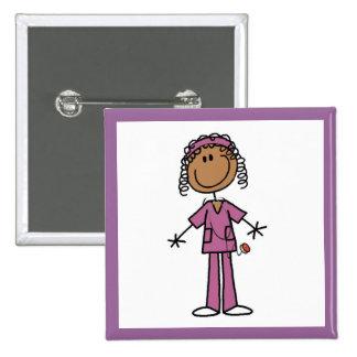 African American Nurse Pin