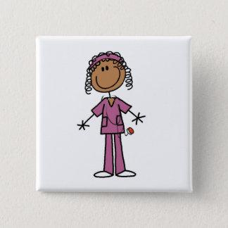 African American Nurse Button