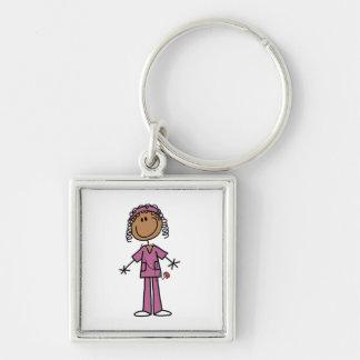 African American Nurse Key Chain