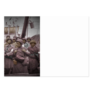 African American Nurses on Ship Large Business Cards (Pack Of 100)