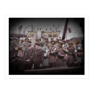 African American Nurses on Ship Postcard