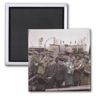 African American Nurses on Shipboard 2 Inch Square Magnet