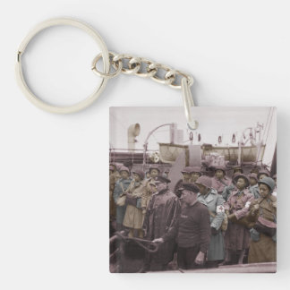 African American Nurses on Shipboard Keychain