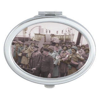African American Nurses on Shipboard Mirror For Makeup