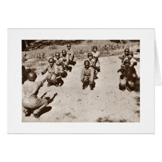African American Nurses Working Out Greeting Card