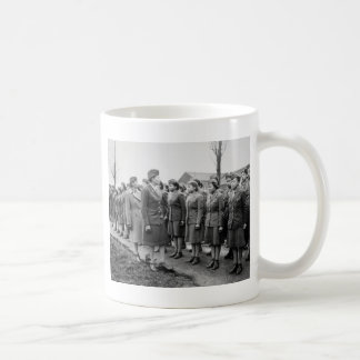 African American Office Inspects Troops Coffee Mug