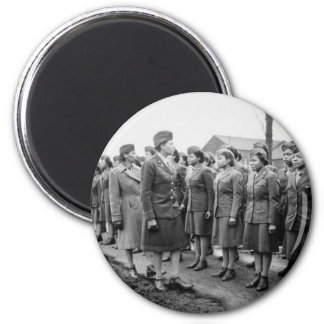 African American Office Inspects Troops Magnet