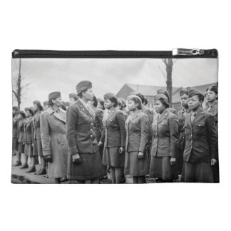 African American Office Inspects Troops Travel Accessory Bag
