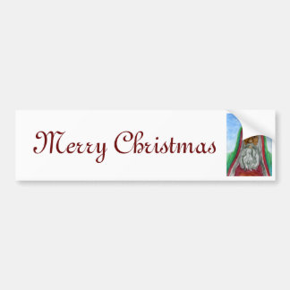 African American Old World Santa Bumper Stickers